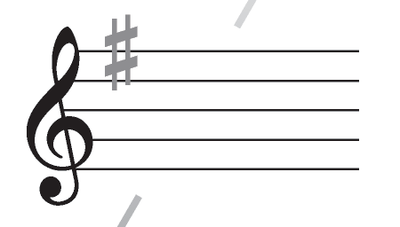 The G Major Scale Key Signature.
